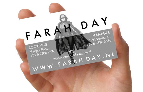 FARAH DAY BUSINESS CARD