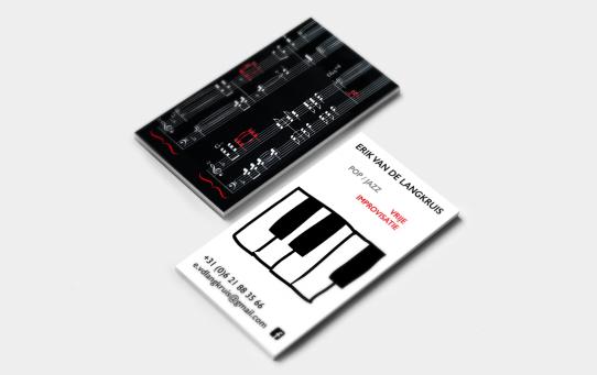 Visitekaartje pianist Erik van de Langkruis