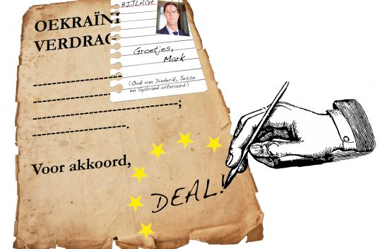 Tribune illustratie: Rutte deal, Nynke Vissia
